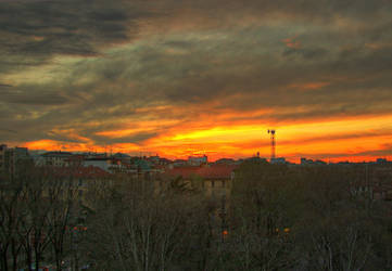 A sunset from my balcony by LarsMaresca
