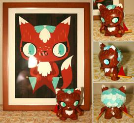 Flag Fox by crowded-teeth