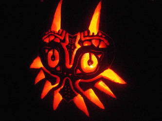 Majora's Mask Pumpkin Carving by ph4nt