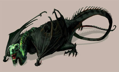 Creature Design - Aging Dragon by thegryph