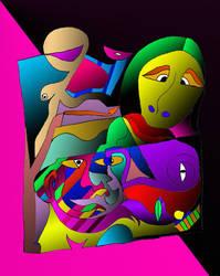 Compositon 2 colour by unityofmulti