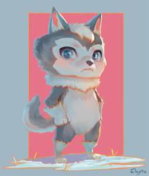 Wolf Chibi by Sayta0
