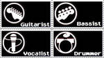 Rock Band Stamps 4-in-1 by CalebKun