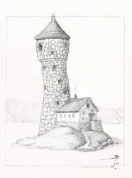 Felian's Tower [pencil] by SirInkman