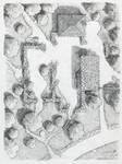 The Ruins near Cragford [pencil] by SirInkman