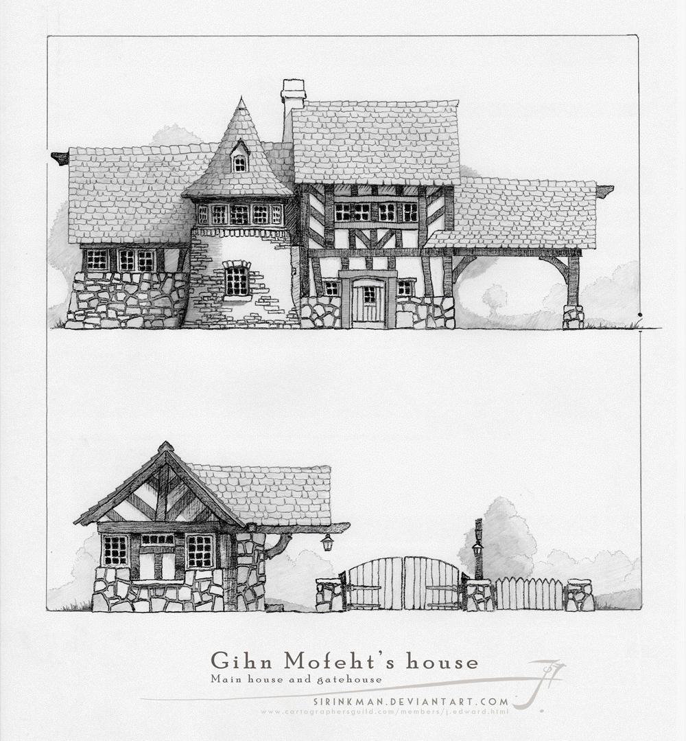 Gihn Mofeht's house [pencil] by SirInkman