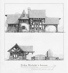 Gihn Mofeht's house [pencil] by SirInkman