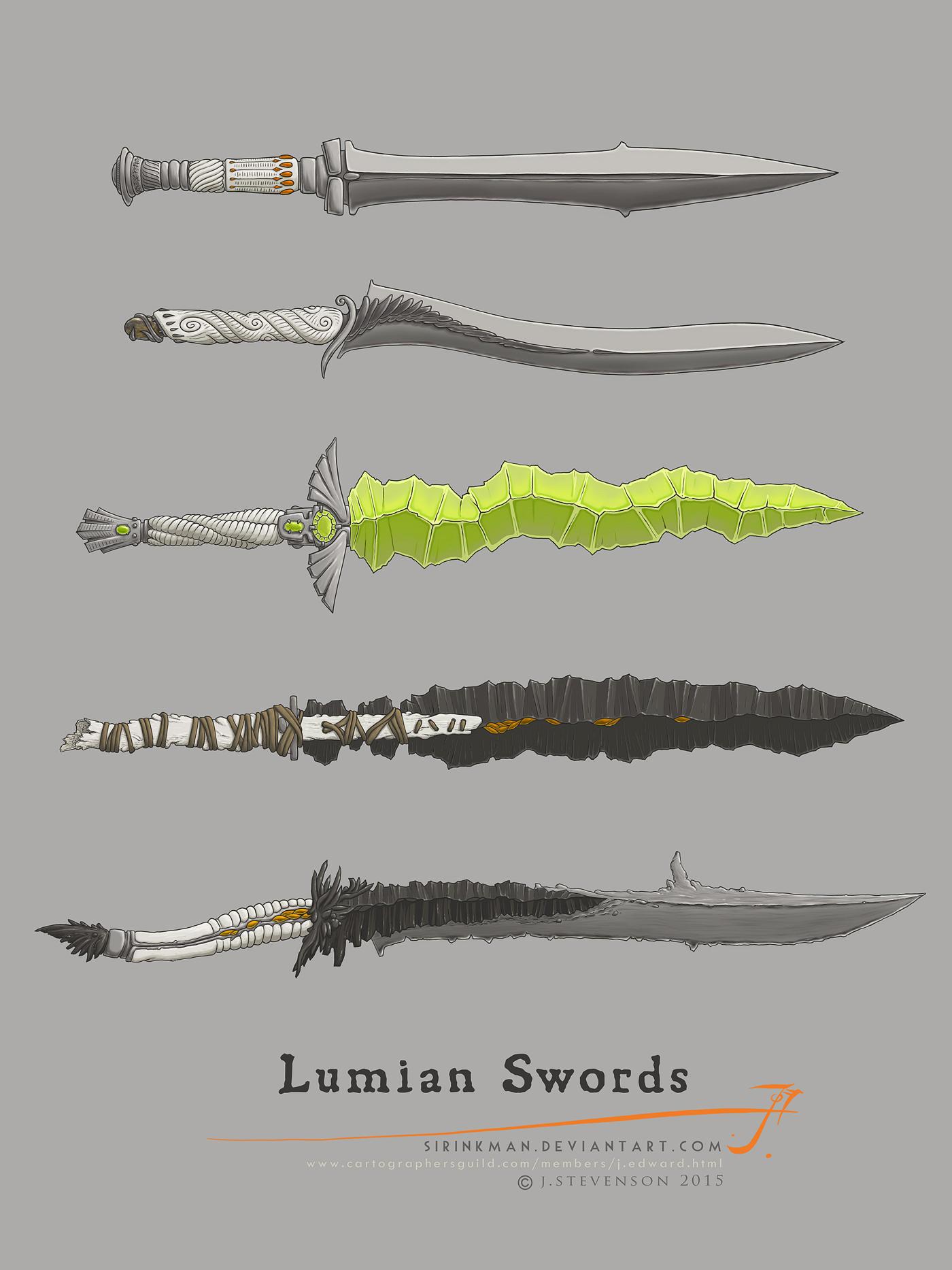 Lumian Swords [Color M] by SirInkman