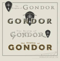Middle Earth lettering 2 - Gondor by SirInkman