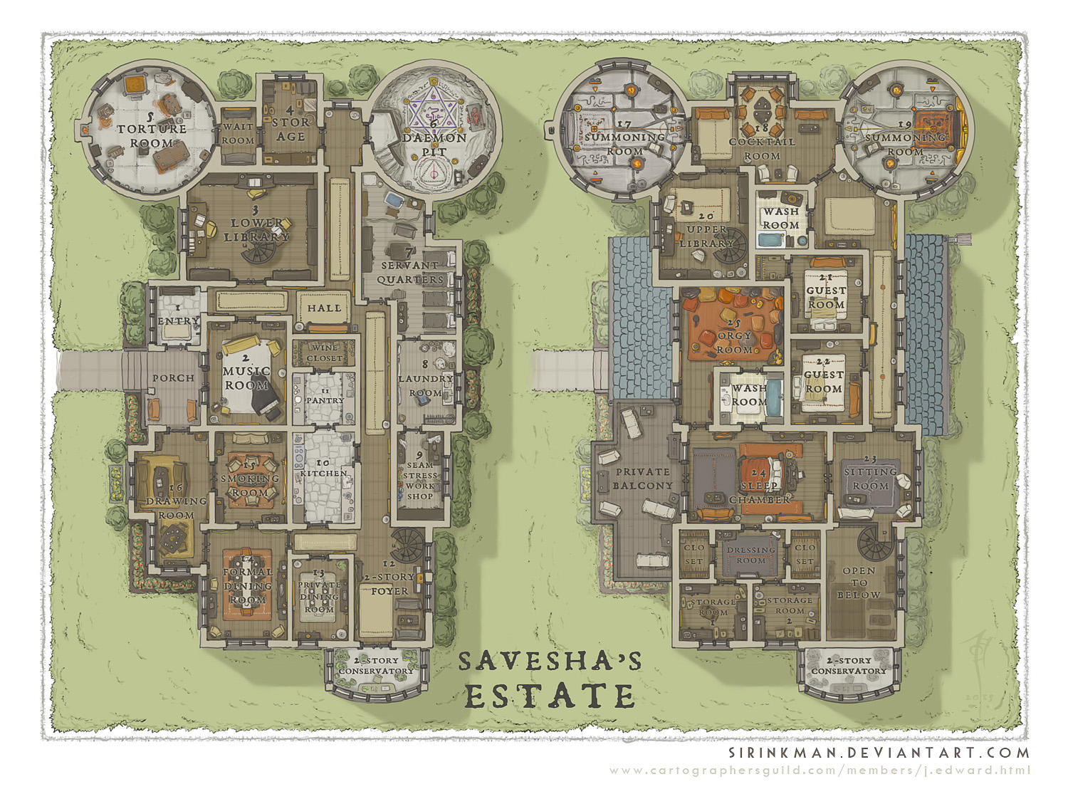 Wizards Academy - Savesha's Estate by SirInkman