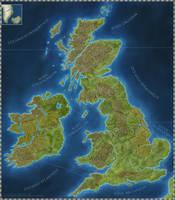 Britannia game board [commission] by SirInkman