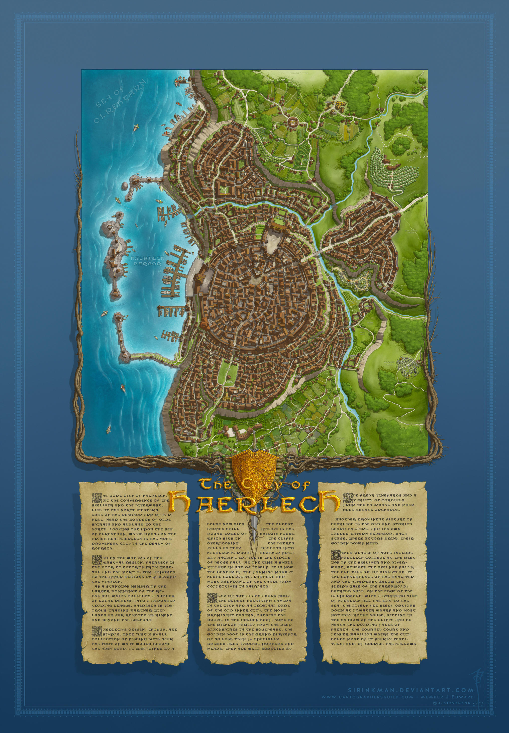 The City of Haerlech by Sirinkman [50%] by SirInkman