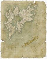 Thendrais map by SirInkman