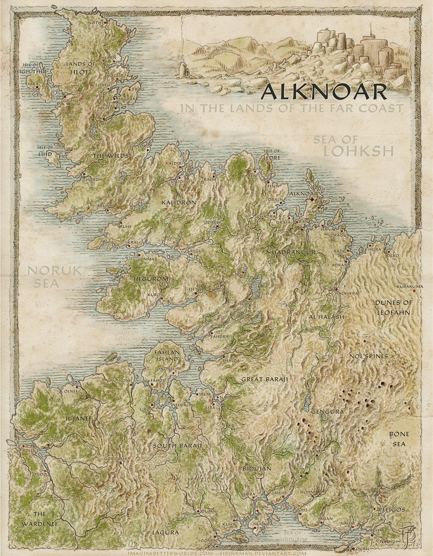 Alknoar and the Far Coast by SirInkman