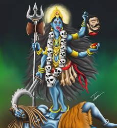 goddess Kali by tusardas