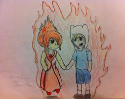 Finn and Flame Princess by Emobella101