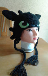 Toothless Crochet Hat by Luzerrante