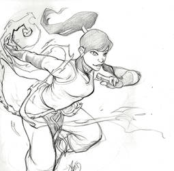 Legend of Korra: Korra Quick Sketch by Luzerrante