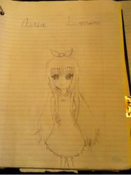 OC Drawing [ A R I A ] by TheBlackRoseParade