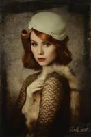 vintage portrait of Miss Strange by snottling1