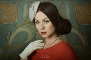 vintage portrait of Miss Strange no.2 by snottling1