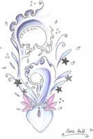 Aquarius tattoo design by AquaGanymedes