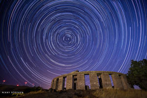Star Trails at Maryhill Stonehenge by djniks97