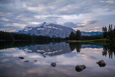 Two Jack Lake, Banff National Park by djniks97