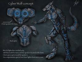 cyber wolf consept by joshsmithstudio