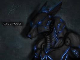 cyberwolf by joshsmithstudio