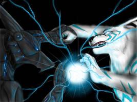 Static vs cyber final showdown by joshsmithstudio