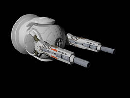 Particle cannon turret by Scifiwarships
