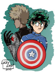 Katsudeku- Captain America AU by luckylizart