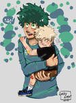 Child!Kacchan And Deku by luckylizart