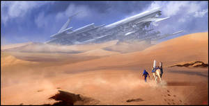 fallen ship - speed painting by jamga