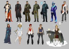 characters explorations by jamga