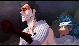 Grimmjow vs Askin - Bleach CH665 by aConst