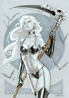 Lady Death copic by LucaStrati