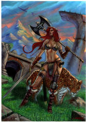 Red Sonja private commission by LucaStrati