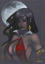 Vampirella bust commission by LucaStrati