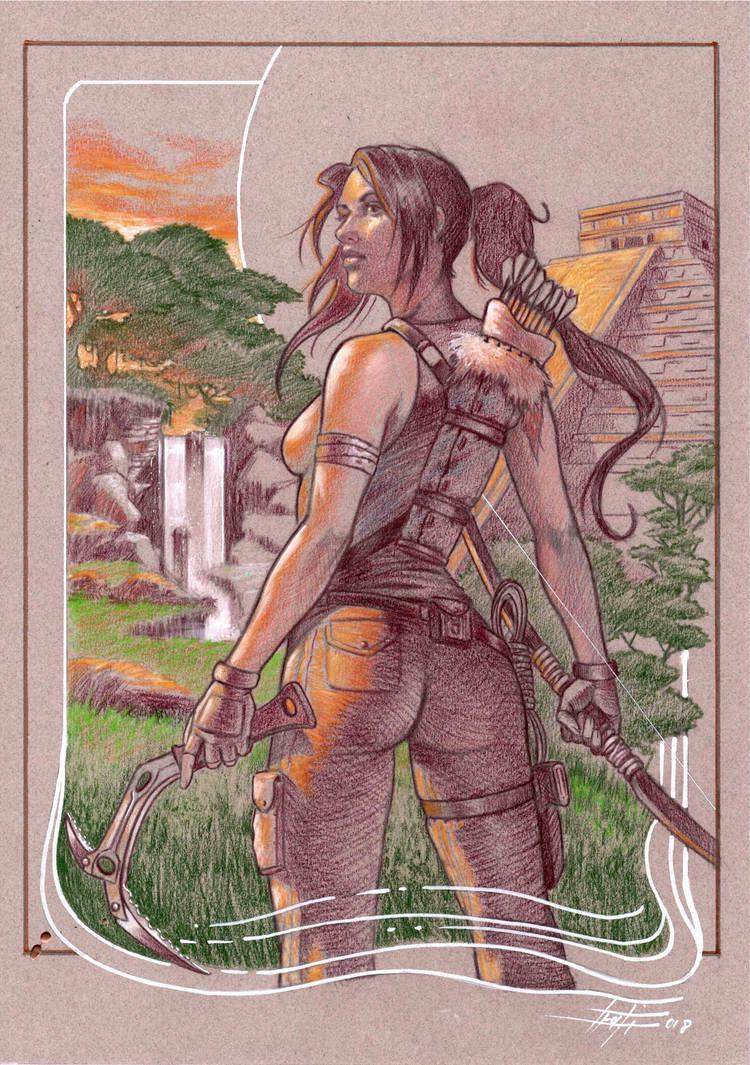 Lara Croft commission by LucaStrati