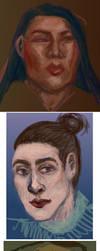 Portrait Sketch Dump by kaupaint