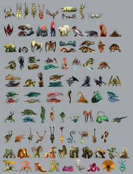 100 Creatures by jameswolf
