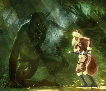 zombie ogre vs santa by jameswolf