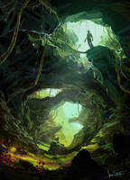 swiss cave by jameswolf