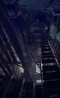underlit walkway by jameswolf