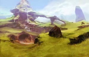 mushroom mountain by jameswolf