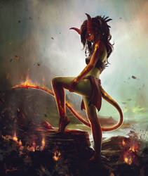 Fire Nymph by jameswolf