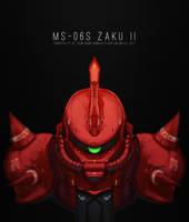 Zaku II by Bing0ne