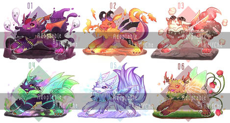 [OPEN : Set Price] Adoptable : Dragon [3/6] by HalfChe